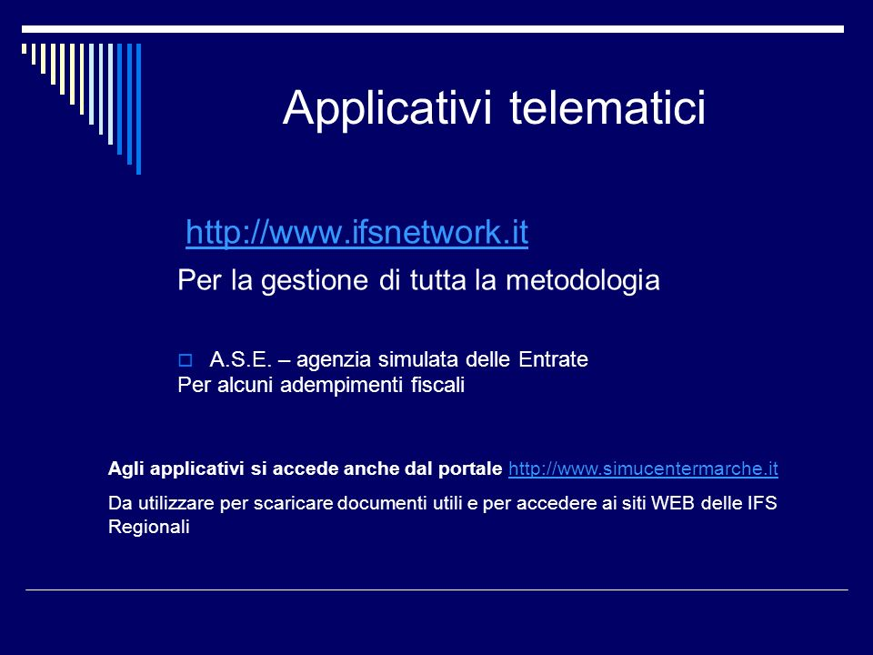 Applicativi telematici