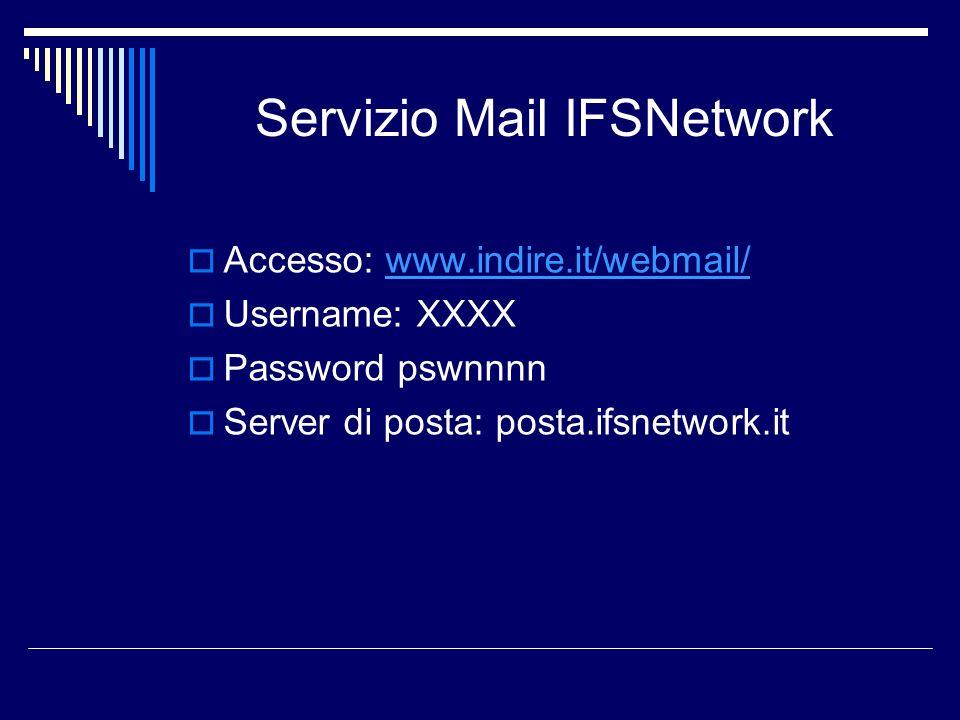 Servizio Mail IFSNetwork