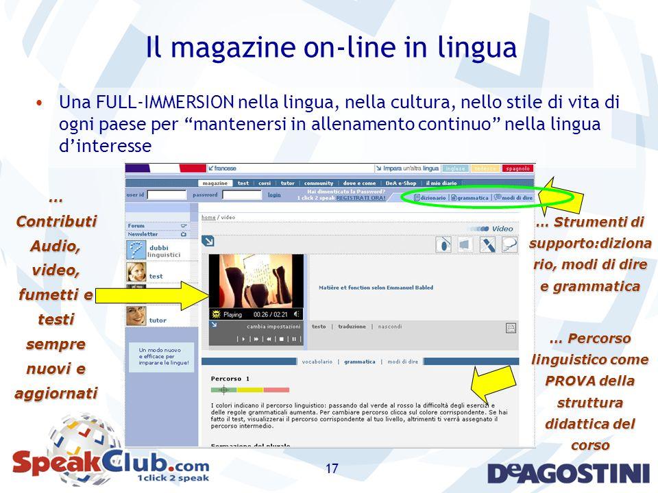 Il magazine on-line in lingua