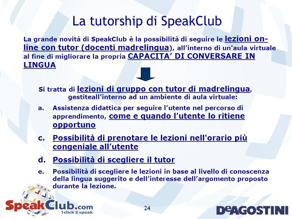 La tutorship di SpeakClub