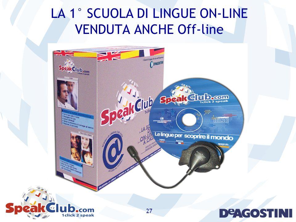 LA 1° SCUOLA DI LINGUE ON-LINE VENDUTA ANCHE Off-line