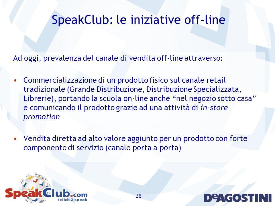 SpeakClub: le iniziative off-line