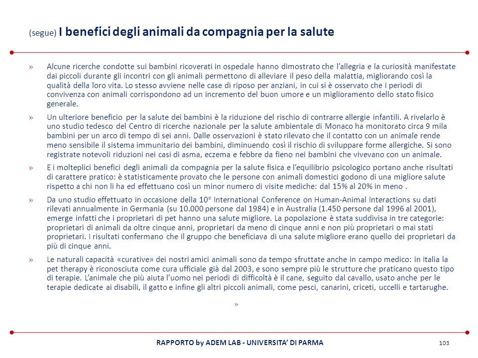 (segue) I benefici degli animali da compagnia per la salute