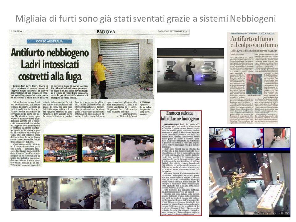 Migliaia di furti sono già stati sventati grazie a sistemi Nebbiogeni