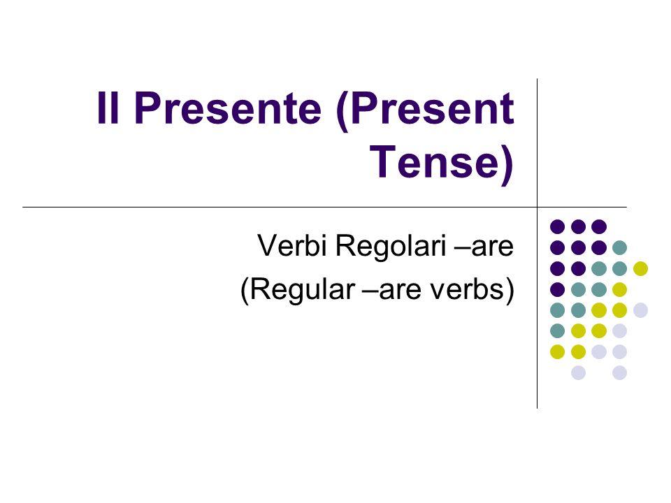 Il Presente (Present Tense)