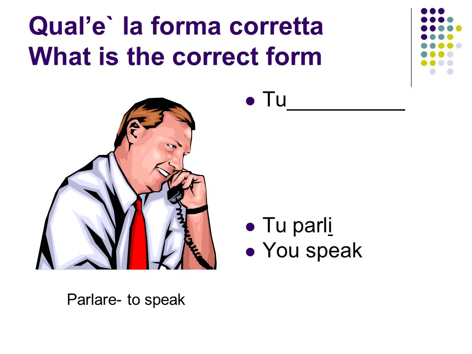 Qual'e` la forma corretta What is the correct form