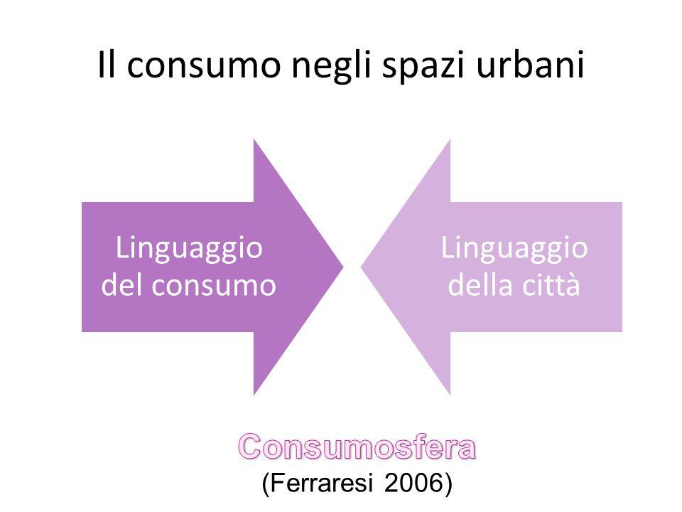 Il consumo negli spazi urbani