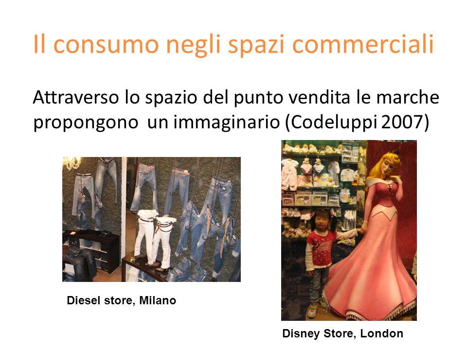 Il consumo negli spazi commerciali