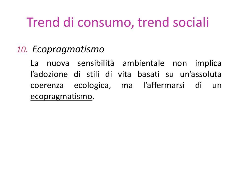 Trend di consumo, trend sociali