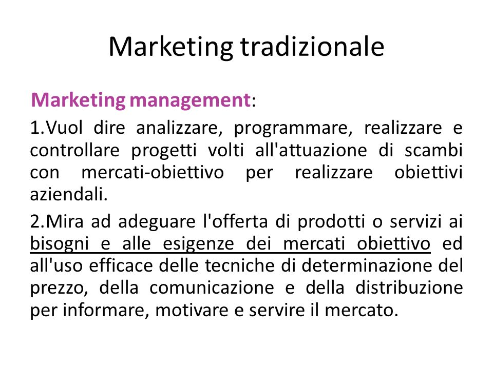 Marketing tradizionale