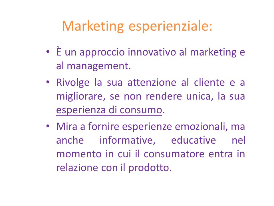 Marketing esperienziale: