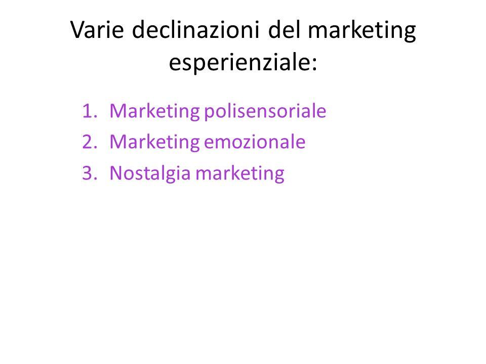 Varie declinazioni del marketing esperienziale: