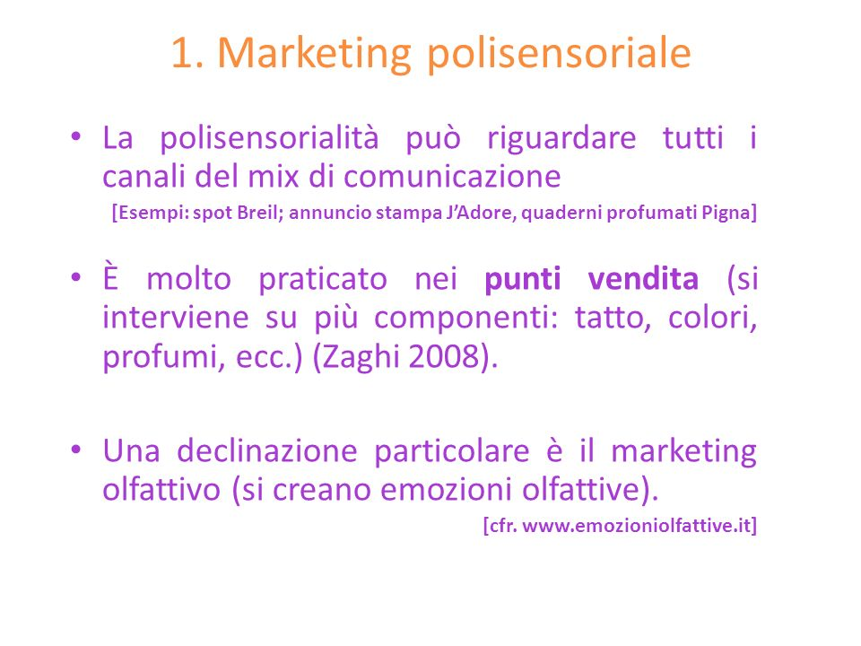 1. Marketing polisensoriale