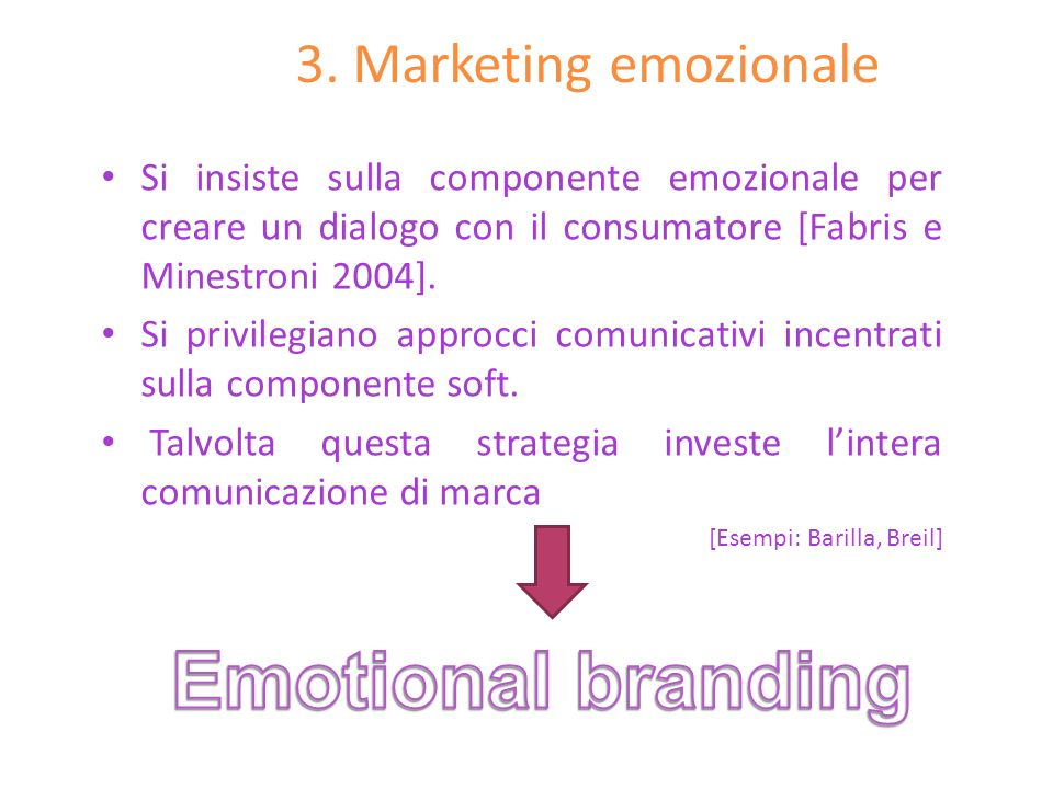 Emotional branding 3. Marketing emozionale