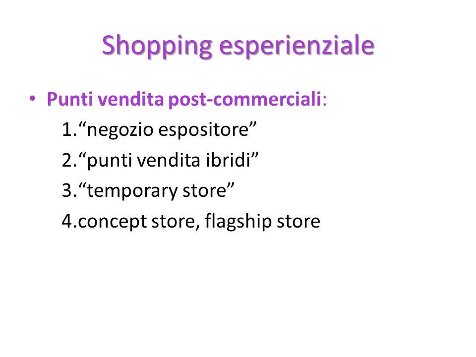 Shopping esperienziale