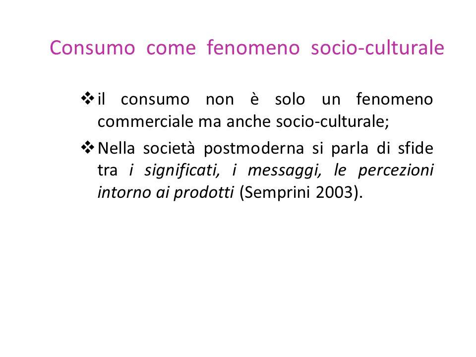 Consumo come fenomeno socio-culturale