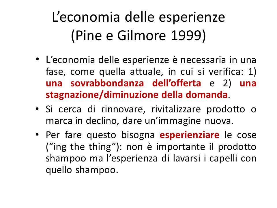 L'economia delle esperienze (Pine e Gilmore 1999)