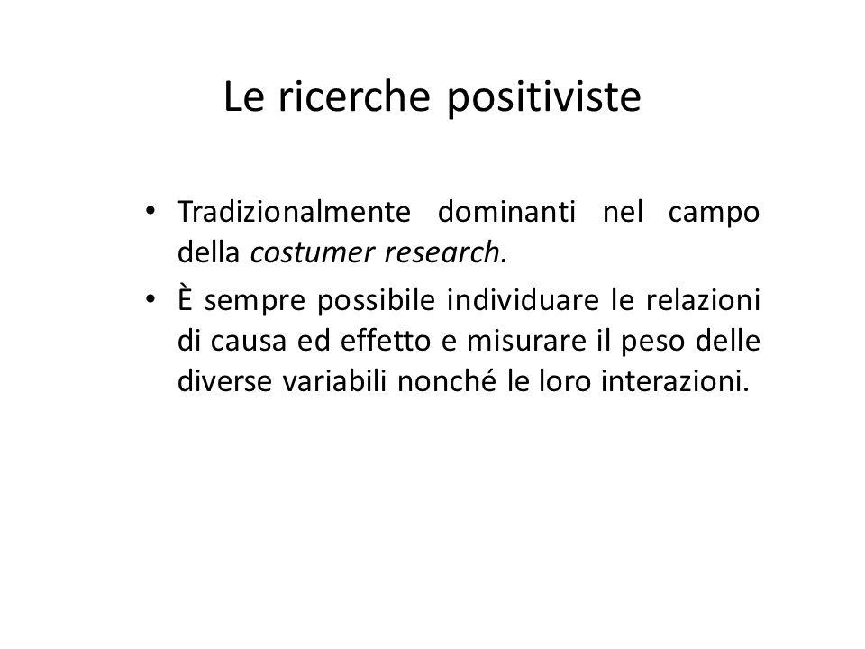 Le ricerche positiviste