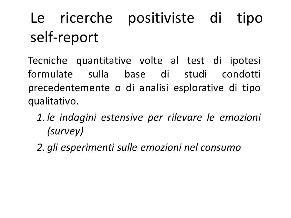 Le ricerche positiviste di tipo self-report