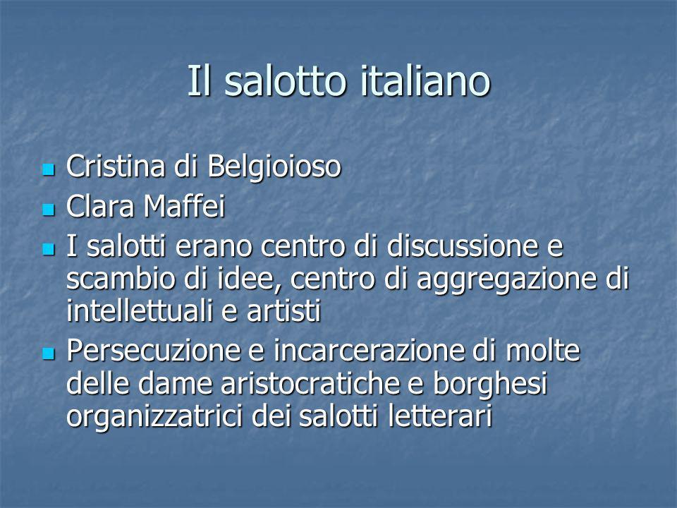 Il salotto italiano Cristina di Belgioioso Clara Maffei