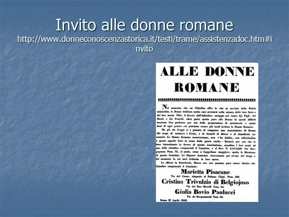 Invito alle donne romane http://www. donneconoscenzastorica