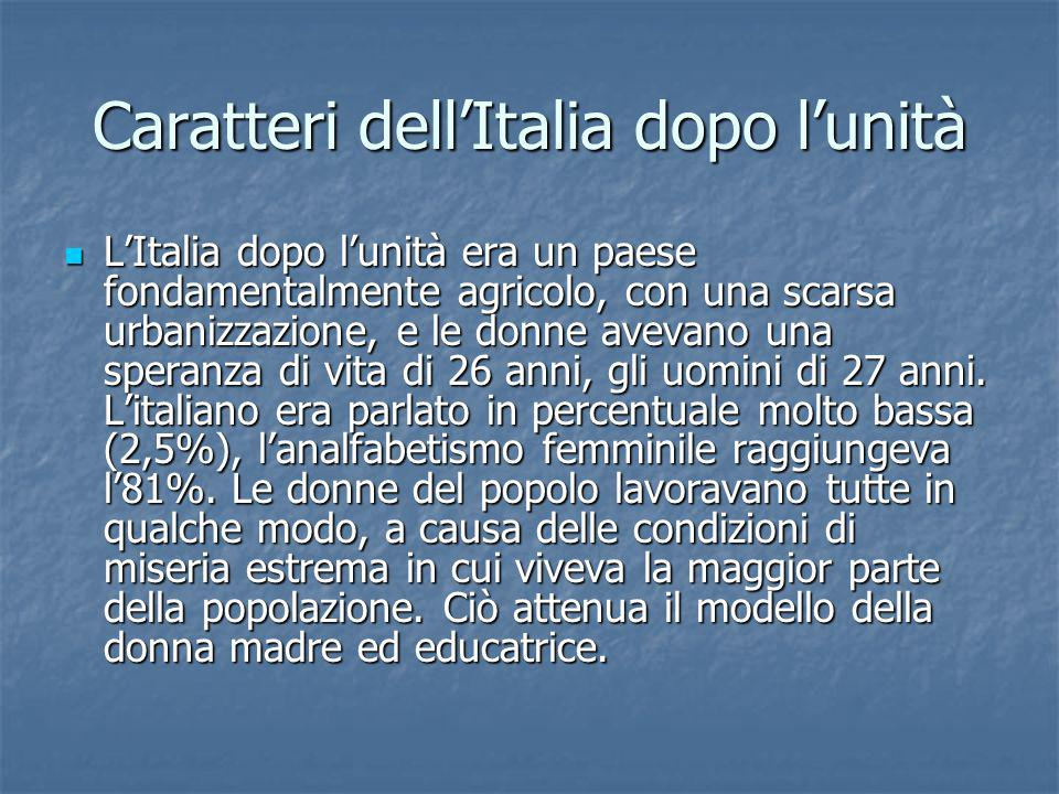 Caratteri dell'Italia dopo l'unità