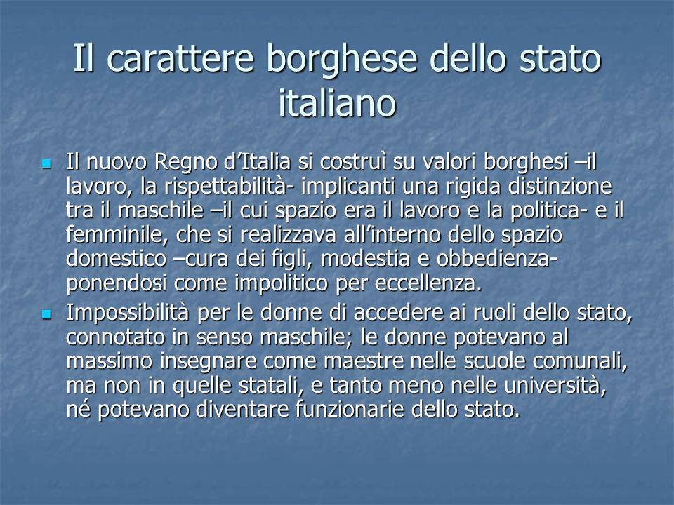 Il carattere borghese dello stato italiano