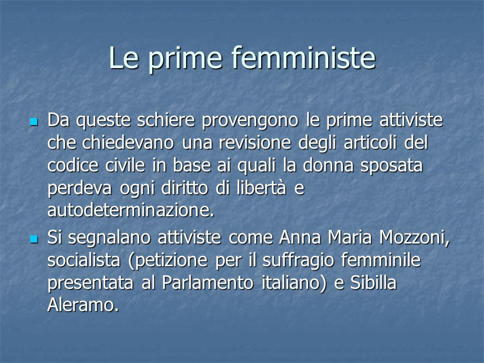 Le prime femministe