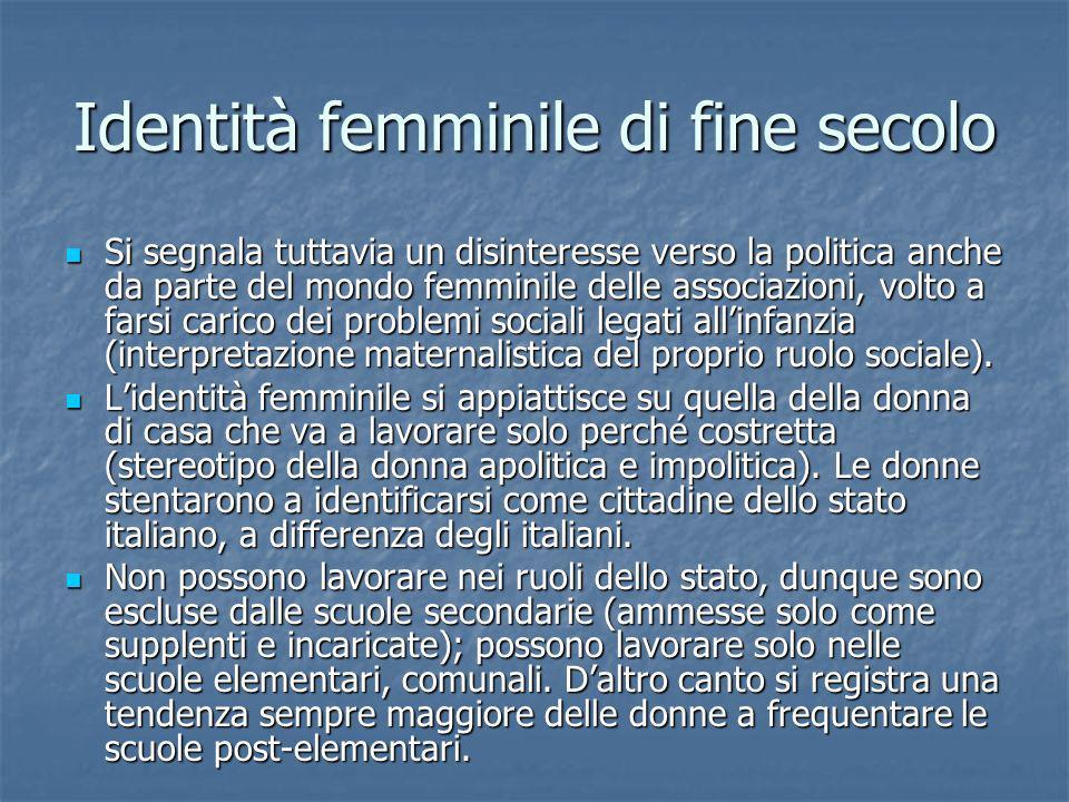 Identità femminile di fine secolo