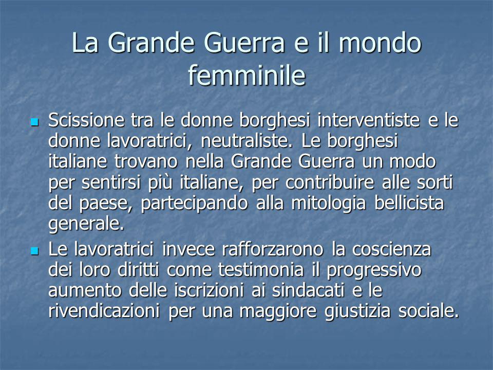 La Grande Guerra e il mondo femminile