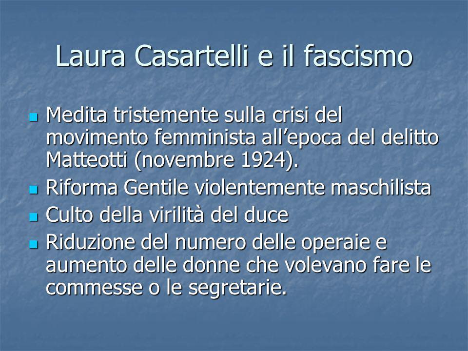 Laura Casartelli e il fascismo