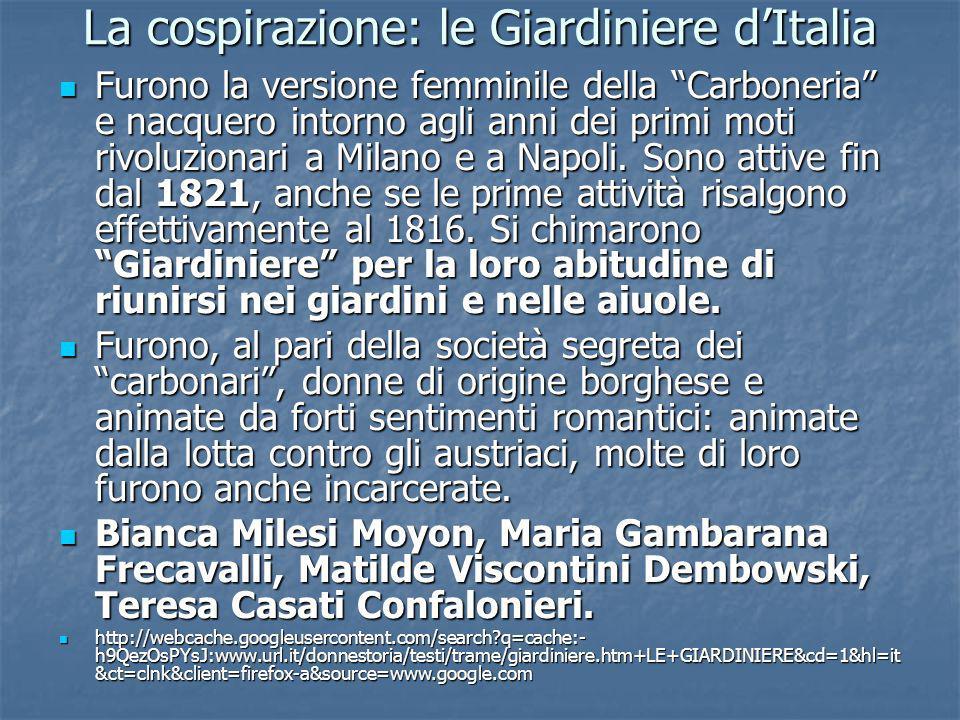 La cospirazione: le Giardiniere d'Italia