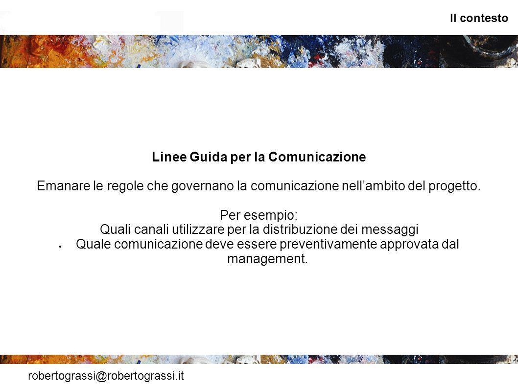 Linee Guida per la Comunicazione