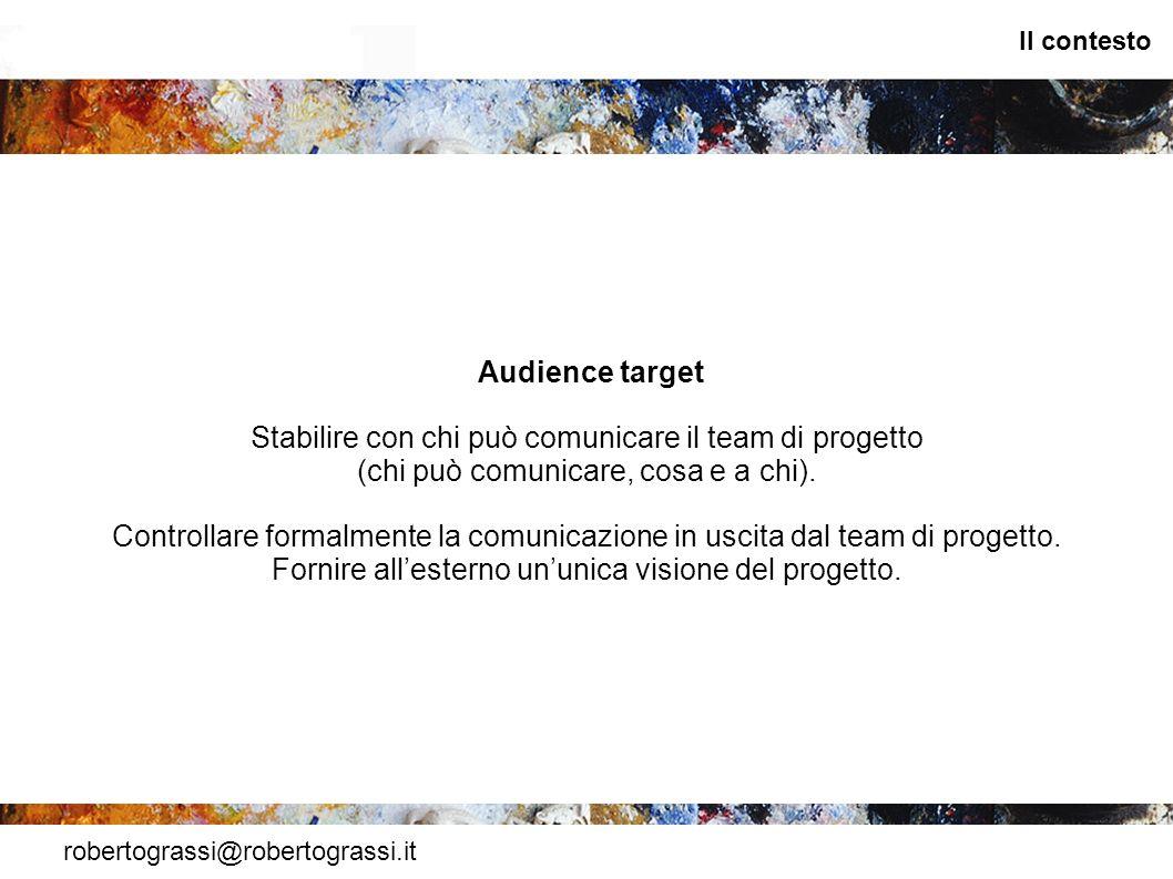 Stabilire con chi può comunicare il team di progetto