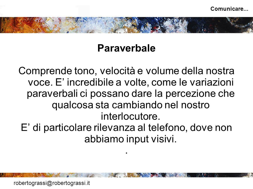 Comunicare... Paraverbale.