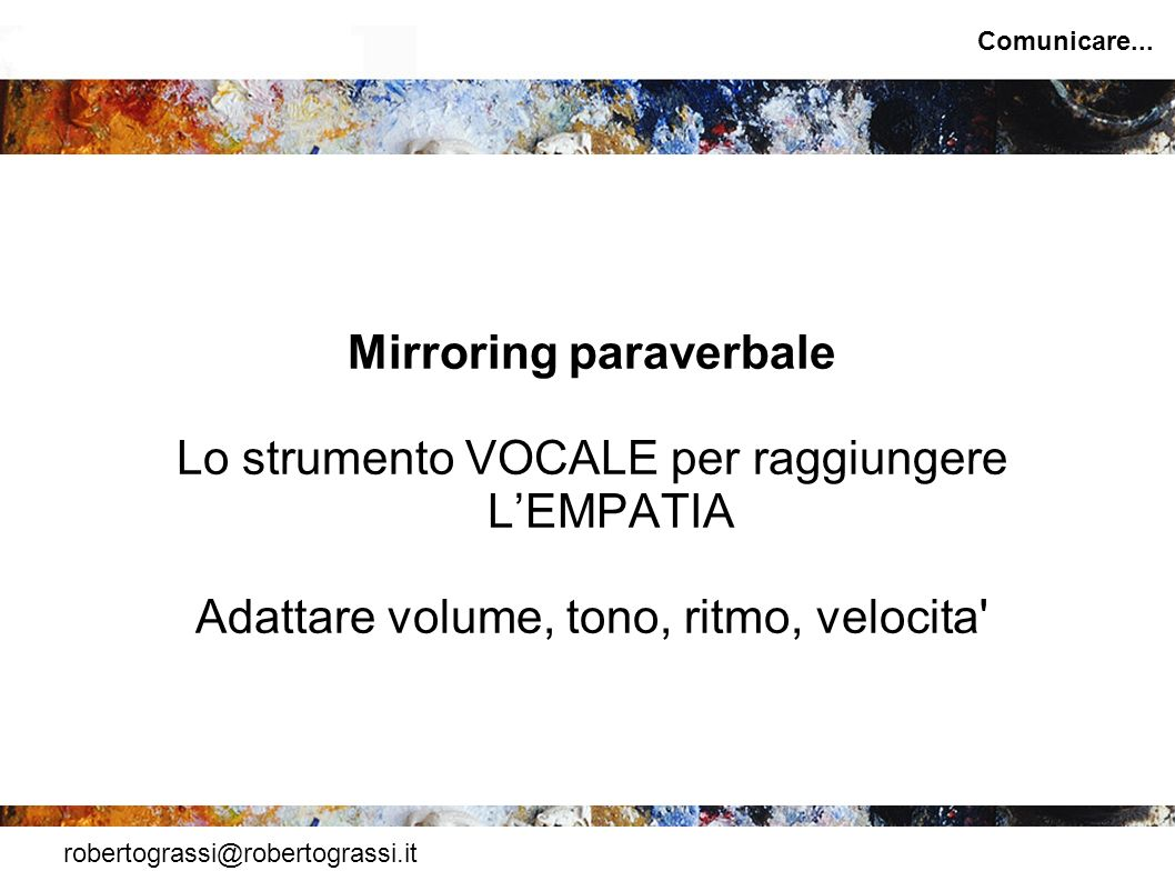 Mirroring paraverbale
