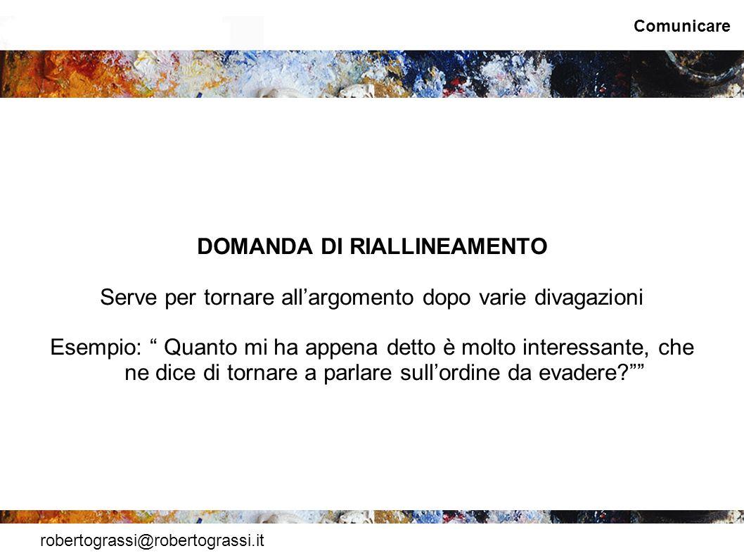 DOMANDA DI RIALLINEAMENTO