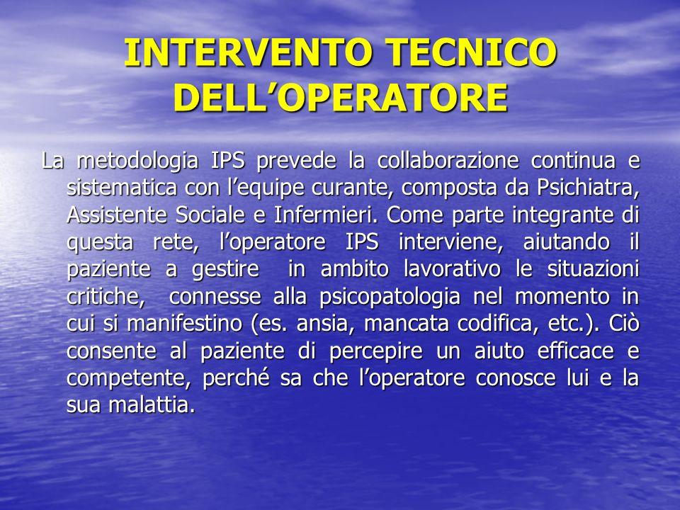 INTERVENTO TECNICO DELL'OPERATORE