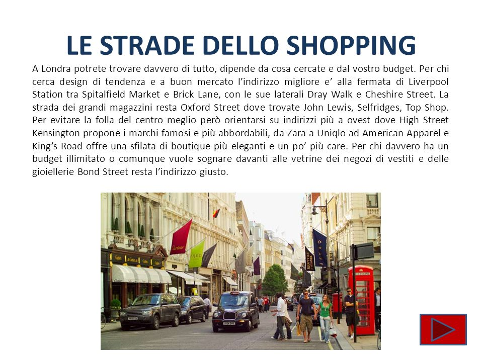 LE STRADE DELLO SHOPPING