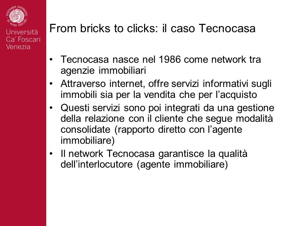 From bricks to clicks: il caso Tecnocasa