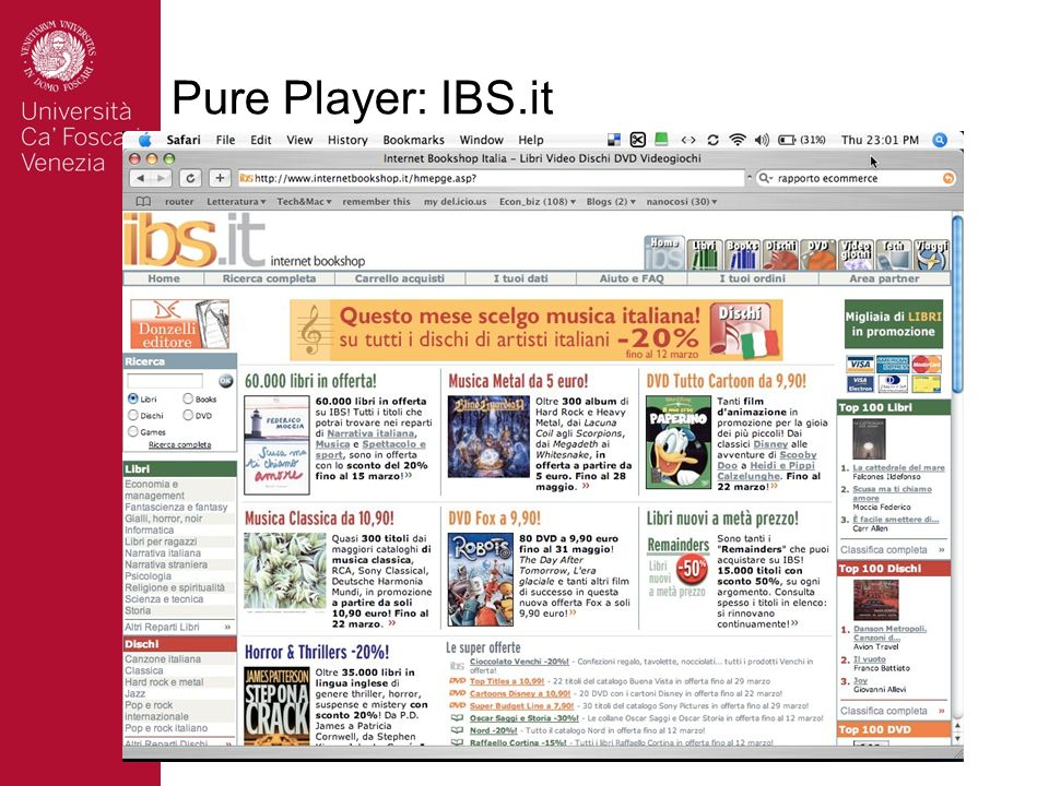 Pure Player: IBS.it