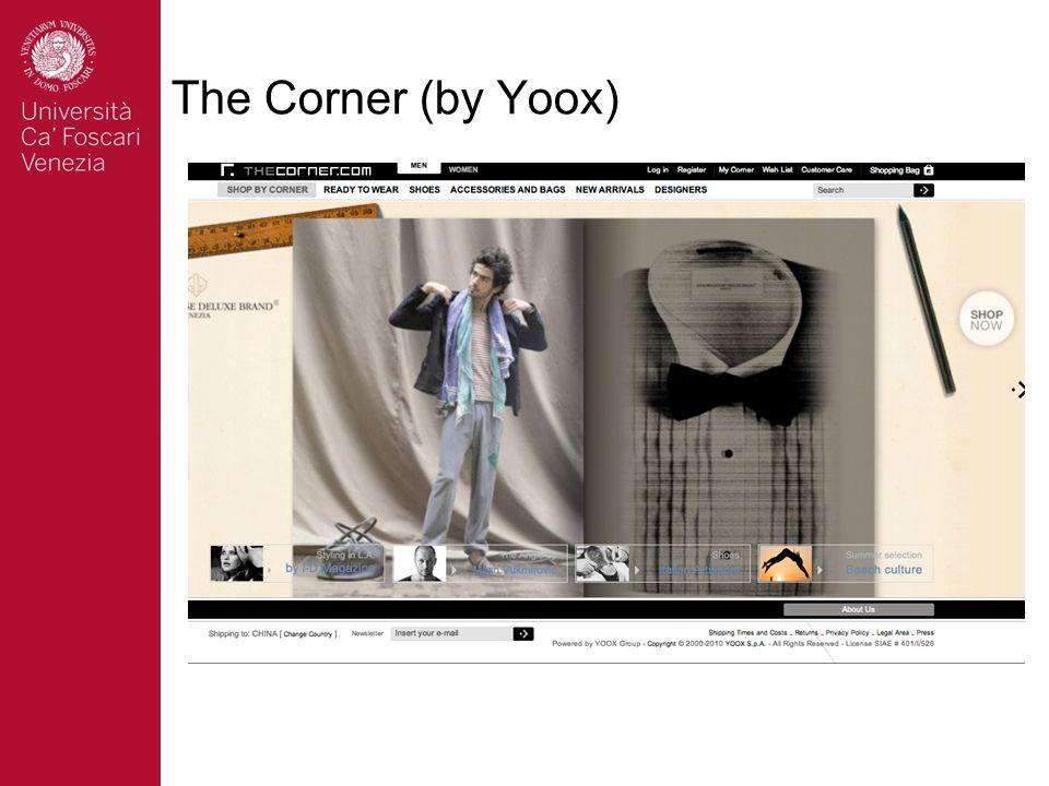 The Corner (by Yoox) Fondata nel 2000 4 milioni contatti mese