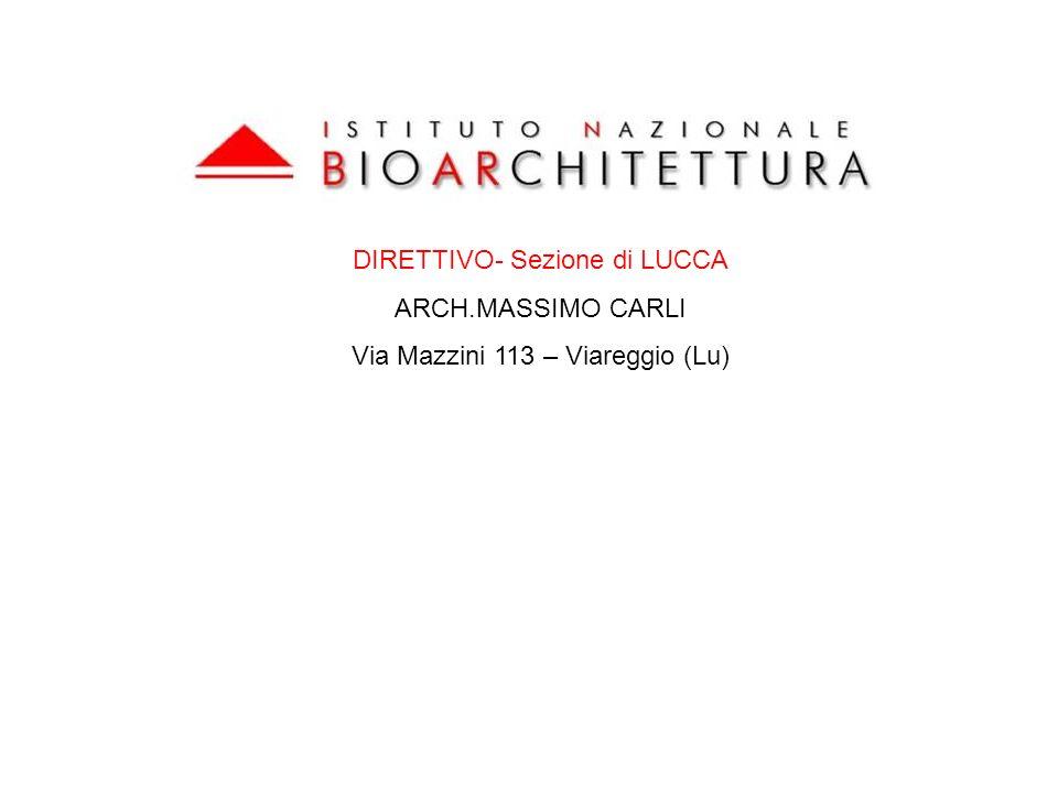 DIRETTIVO- Sezione di LUCCA ARCH.MASSIMO CARLI