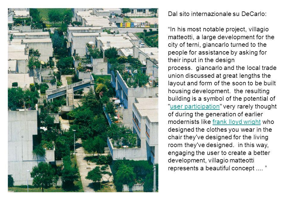 Dal sito internazionale su DeCarlo: