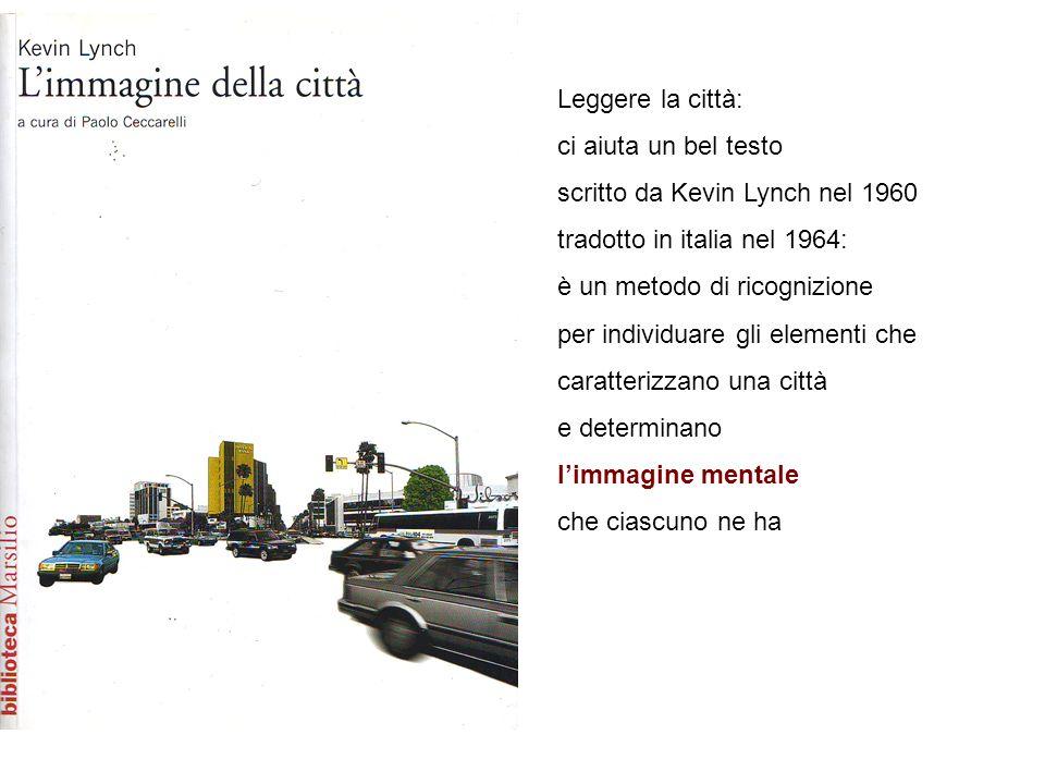 Leggere la città: ci aiuta un bel testo. scritto da Kevin Lynch nel 1960. tradotto in italia nel 1964: