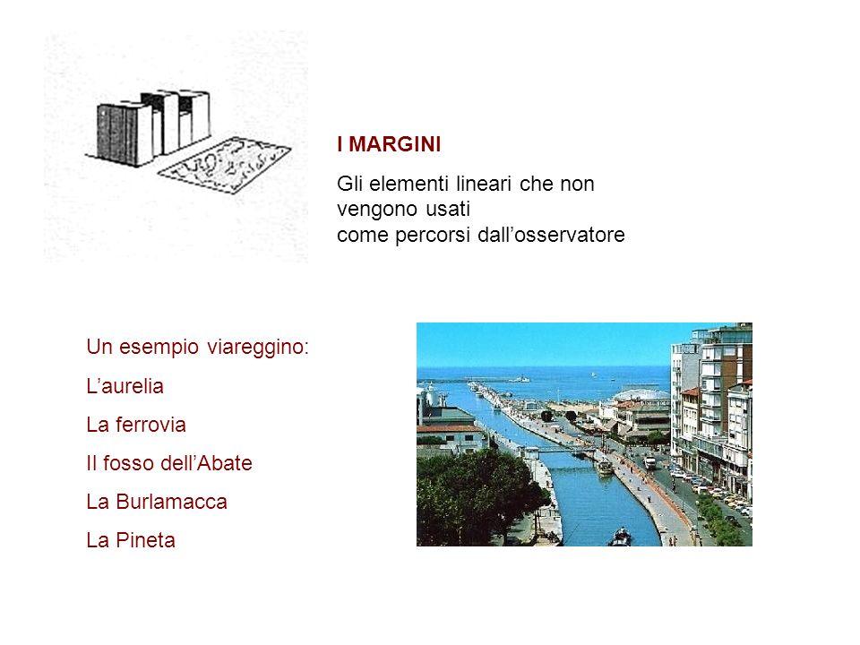 I MARGINI Gli elementi lineari che non vengono usati come percorsi dall'osservatore. Un esempio viareggino: