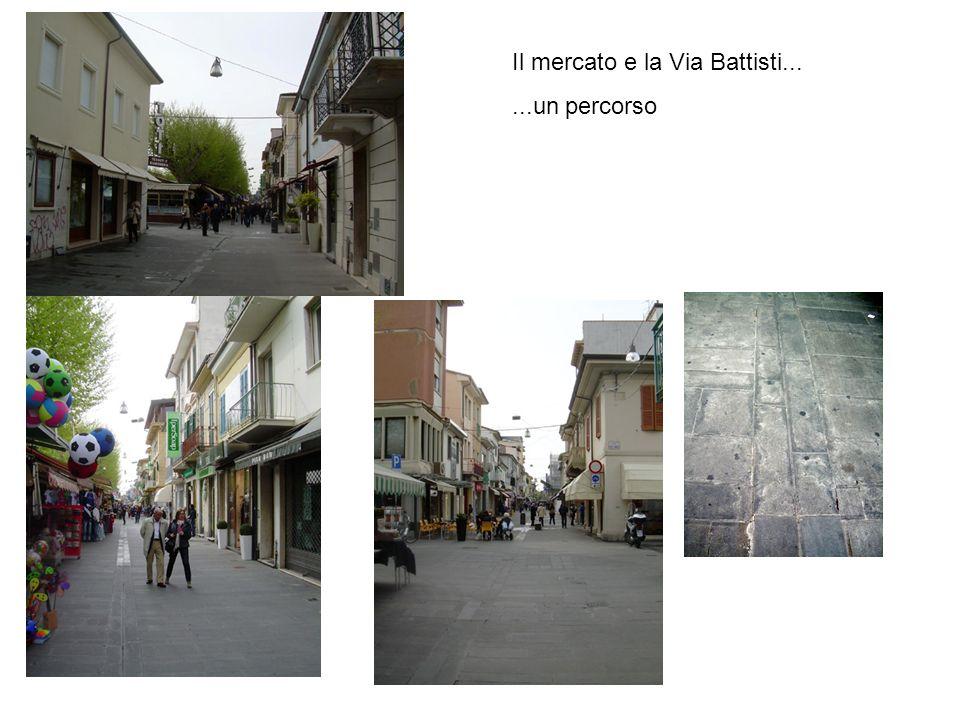 Il mercato e la Via Battisti...