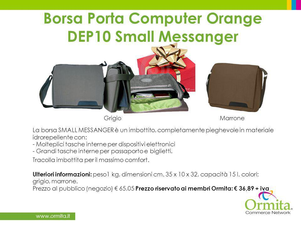 Borsa Porta Computer Orange DEP10 Small Messanger