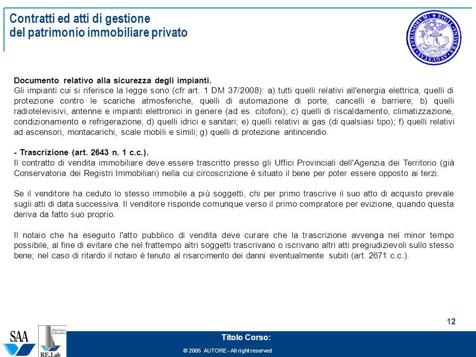 Management del patrimonio immobiliare ppt scaricare - Trascrizione sentenza conservatoria registri immobiliari ...