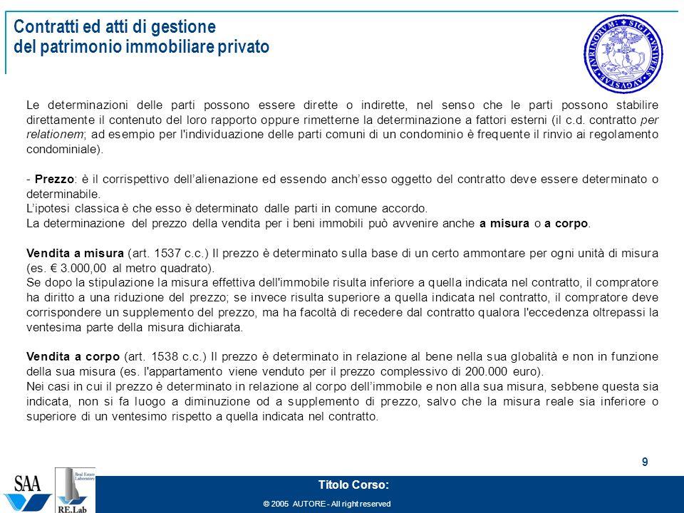 Management del patrimonio immobiliare ppt scaricare - Prezzo al metro quadro di un immobile ...